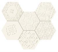 Elementary hex mozaika - obkládačka mozaika 22,1x28,9 bílá