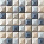 Elementary blue mozaika - obkládačka mozaika 31,4x31,4 modrá