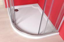 Sprchová vanička Riva - litý mramor - čtvrtkruhová levá 120x90 R55 cm, bílá