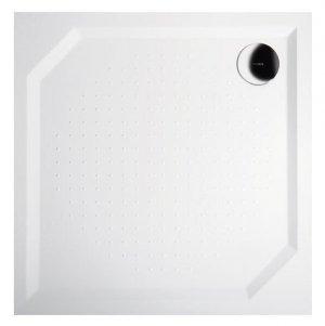 Sprchová vanička Aneta - litý mramor - čtvercová 80x80 cm, bílá hladká