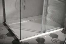Sprchová vanička Irena - litý mramor - obdélníková 140x100 cm, bílá