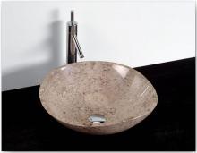 Umyvadlo - kamenina - 45x14 cm, leštěný korál