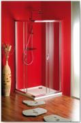 Sprchový kout Sigma čtvercový, rohový vstup 90x90 cm, sklo brick/leštěný profil