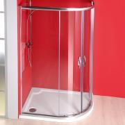 Sprchový kout Sigma čtvrtkruhový 100x80 R55, sklo čiré/leštěný profil