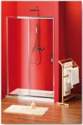 Sprchové dveře Sigma posuvné 100 cm, sklo brick/leštěný profil