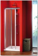 Sprchové dveře Sigma zlamovací 80 cm, sklo brick/leštěný profil