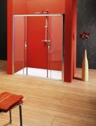 Sprchové dveře Sigma posuvné 150 cm, sklo čiré/leštěný profil