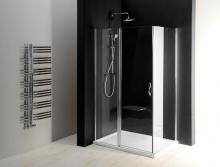 Sprchové dveře One jednodílné otočné 80 cm, sklo čiré/leštěný profil