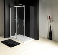 Boční stěna 100 cm, sklo čiré/leštěný profil