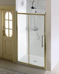 Sprchové dveře Antique jednodílné posuvné 110 cm, sklo čiré/profil bronz
