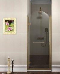 Sprchové dveře Antique jednodílné otočné levé 90 cm, sklo dekor/profil bronz