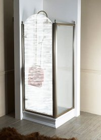 Boční stěna 80 cm, sklo čiré/profil bronz