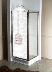 Boční stěna 90 cm, sklo čiré/profil bronz