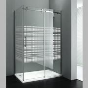 Sprchový kout Dragon obdélníkový pravý 120x90, posuvné dveře, sklo Canvas/profil chrom