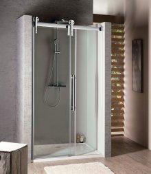 Sprchové dveře Volcano posuvné 130 cm, sklo čiré/lesklý chrom