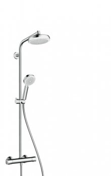 Crometta 160 1jet Showerpipe, bílá/chrom