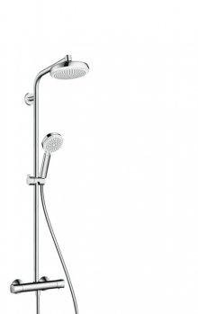 Crometta 160 1jet Showerpipe EcoSmart 9 l/min, bílá/chrom