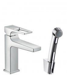 Bidette 1jet, ruční sprcha / Mentropol 110, páková umyvadlová baterie s třmenovou rukojetí, sada 1,60 m