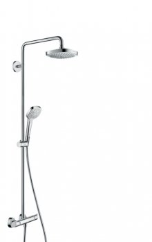 Croma Select E 180 2jet Showerpipe, bílá/chrom