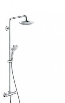Croma Select E 180 2jet Showerpipe EcoSmart 9 l/min, bílá/chrom