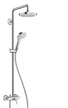 Croma Select E 180 2jet Showerpipe s pákovou baterií, bílá/chrom
