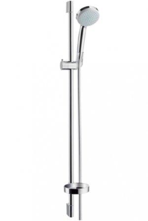 Sada ruční sprchy Croma 100 Vario EcoSmart 9 l/min / nástěnné tyče Unica´C 0,90 m