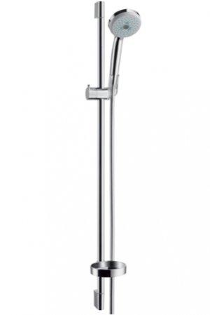 Sada ruční sprchy Croma 100 Multi 3jet EcoSmart 9 l/min / nástěnné tyče Unica´C 0,90 m