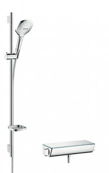 Ecostat Select Combi 0,90 m s ruční sprchou Raindance Select E 120 3jet