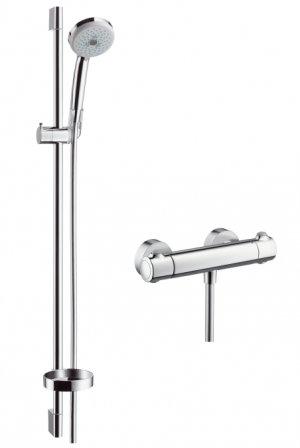 Ecostat 1001 SL Combi 0,90 m s ruční sprchou Croma 100 Multi 3jet