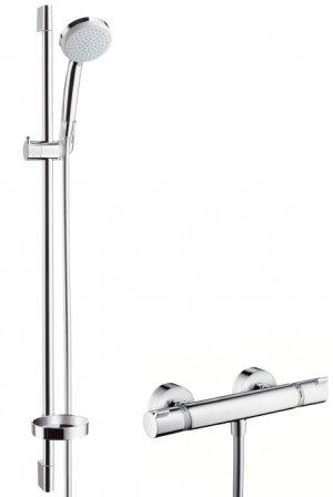 Ecostat Comfort Combi 0,90 m s ruční sprchou Croma 100 Vario EcoSmart 9 l/min
