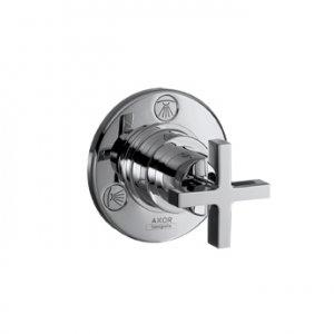 Citterio Trio/Quattro - podomítkový uzavírací a přepínací ventil, vrchní sada