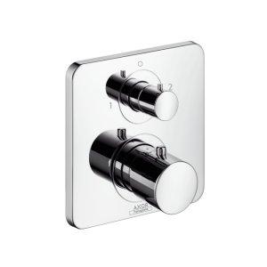 Citterio M - termostatická podomítková baterie, 2 spotřebiče, vrchní sada