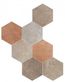 Riabita Esagona Mix Natural - dlaždice šestihran 24x27,7