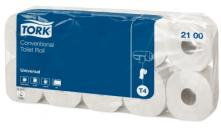 T4 universal toaletní papír konvenční role - 2 vrstvy, bílý, 1x10 rolí