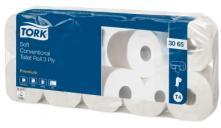 T4 premium toaletní papír konvenční role - 3 vrstvy, bílý, 1x10 rolí
