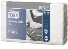 W4 leštící utěrka skládaná 42,8x38,5 cm - netkaná textilie, bílá
