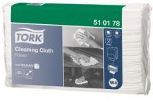 W4 víceúčelová utěrka skládaná 42,8x38,5 cm - netkaná textilie, bílá