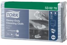 W4 Heavy-Duty víceúčelová utěrka skládaná 42,8x38,5 cm - netkaná textilie, modrá