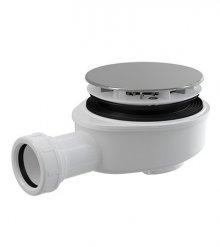 Vaničkový sifon snížený chrom plast, 90 mm