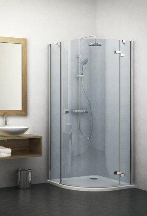 GRP1 1000 - sprchový kout čtvrtkruhový 100x100 pravý s jednokřídlými dveřmi