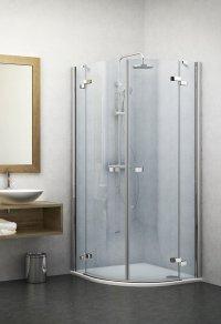 GR2 1000 - sprchový kout čtvrtkruhový 100x100 s dvoukřídlými dveřmi