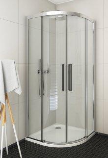 ECR2N 1000 - sprchový kout čtvrtkruhový 100x100 s dvoudílnými posuvnými dveřmi