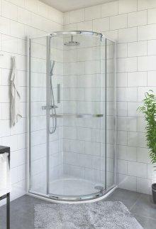 PXR01 900 - sprchový kout čtvrtkruhový 90x90x200 s otvíracímidveřmi