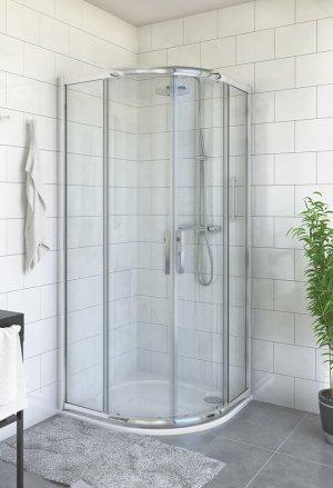 PXR2N 900 - sprchový kout čtvrtkruhový 90x90x185 s posuvnými dveřmi, sklo Satinato