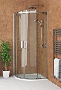 AMR2N 900 - sprchový kout čtvrtkruhový 90x90 s dvoudílnými posuvnými dveřmi
