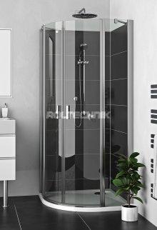 LZR2 900 - sprchový kout čtvrtkruhový 90x90 s dvoukřídlými dveřmi