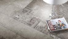 Riabita Inserto Pattern Grey - dlaždice dekor set 20x20 (4 kusy)