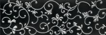 Aimée black-silver - obkládačka inzerto kalibrované 29,7x89,7 černo-stříbrná