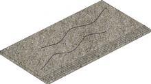 Crossover grey - dlaždice schodovka rektifikovaná 29,7x59,7 šedá reliéfní