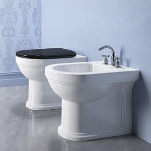Canova Royal - WC sedátko černé, pomalé sklápění